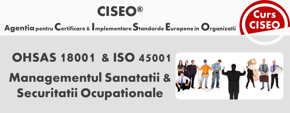 Curs Auditor/Auditor Sef ISO 45001:2018, acreditat IRCA (GOLD), Bucuresti