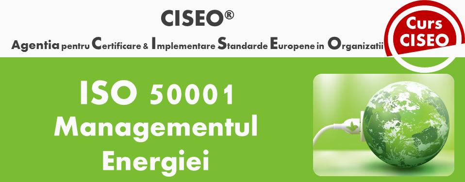 Curs Auditor Intern ISO 50001 - Sistemul de Management al Energiei (GOLD), BUCURESTI
