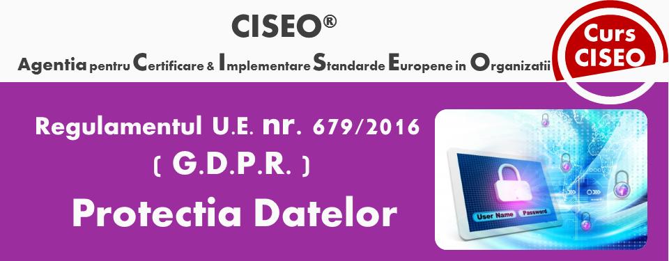 Protectia Datelor (GDPR)