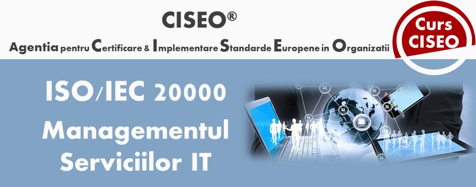 Curs Auditor/Auditor Sef ISO/IEC 20000:2018, acreditat IRCA (PRESTIGE) – Sistemul de Management al Serviciilor, BUCURESTI