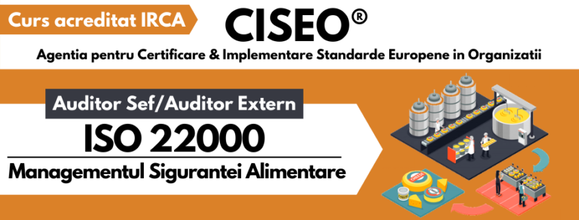 AUDITOR EXTERN ISO 22000 IRCA