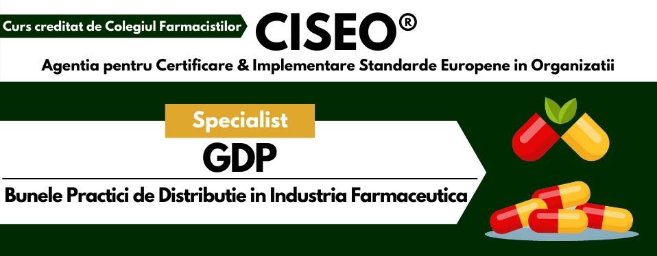 Curs Specialist in Bunele Practici de Distributie (GDP) in Industria Farmaceutica,  creditat de Colegiul Farmacistilor
