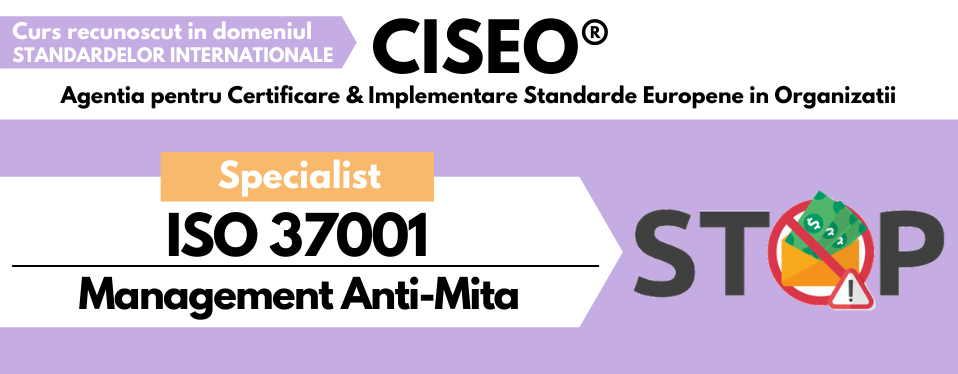 Specialist ISO 37001 Management Anti-Mita
